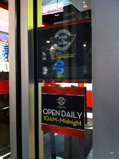 Burgers rexblog for Steak n shake dining room hours